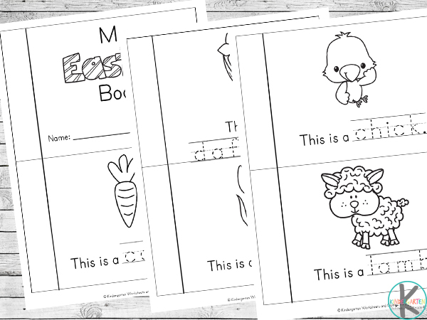 Free printable Easter Emergent Reader for preschool, kindergarten, first grade