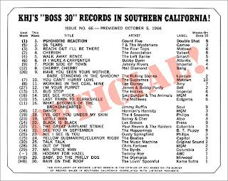 KHJ Boss 30 No. 66 - October 5, 1966