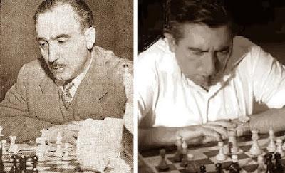 Los ajedrecistas Jaume Lladó Lumbera y Romà Bordell Rosell