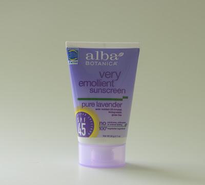 Alba Botanica, Смягчающий солнцезащитный крем, SPF 45, чистая лаванда
