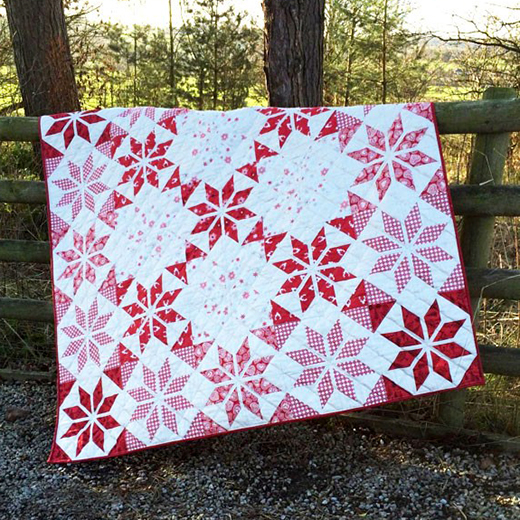Scandi 3 Quilt Free Pattern designed by Lynne Goldsworthy of LilysQuilts using the Scandi 3 collection from Makower Uk