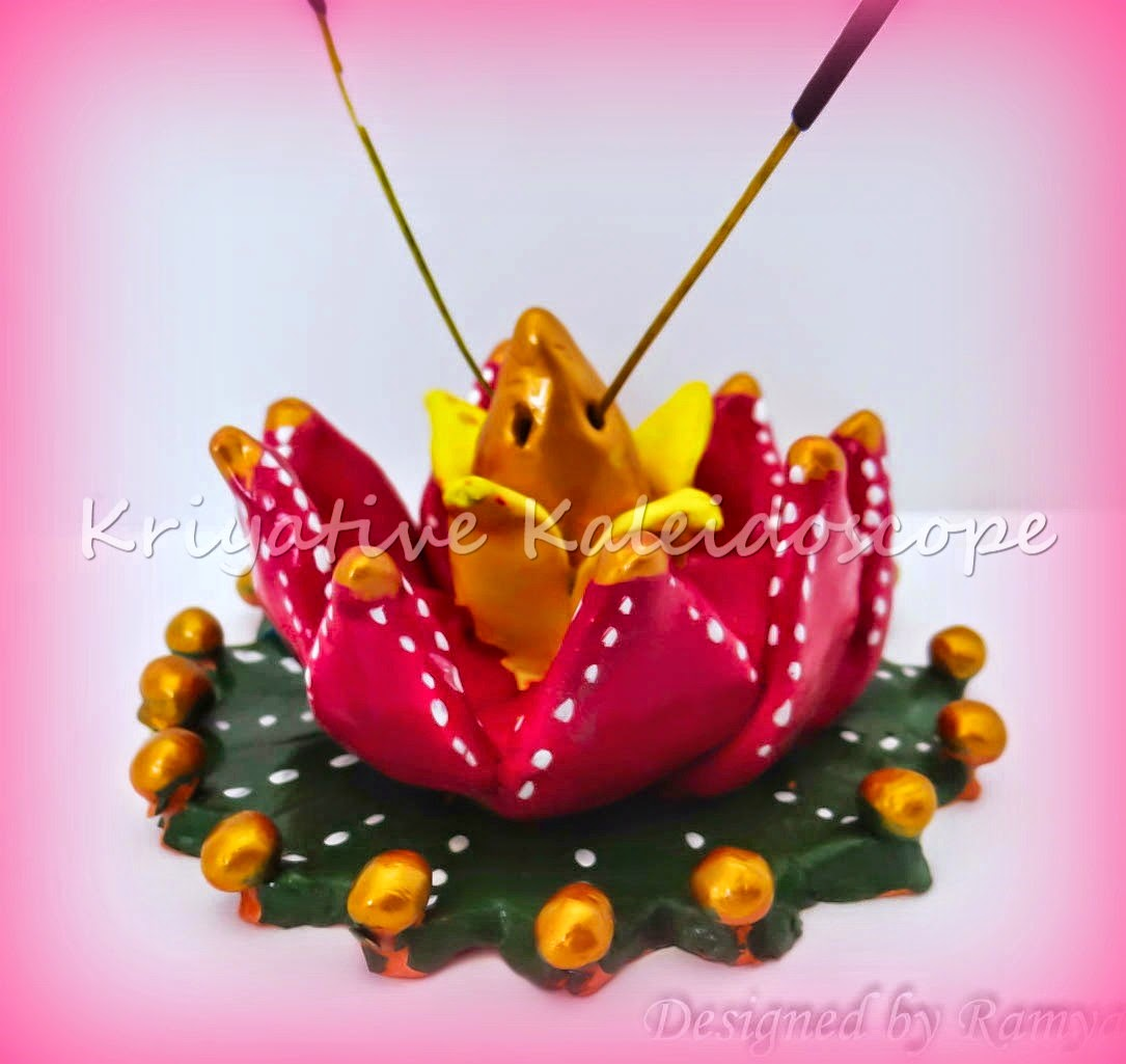 Kriya Tive Kaleidoscope Diy Lotus Agarbathi Stand