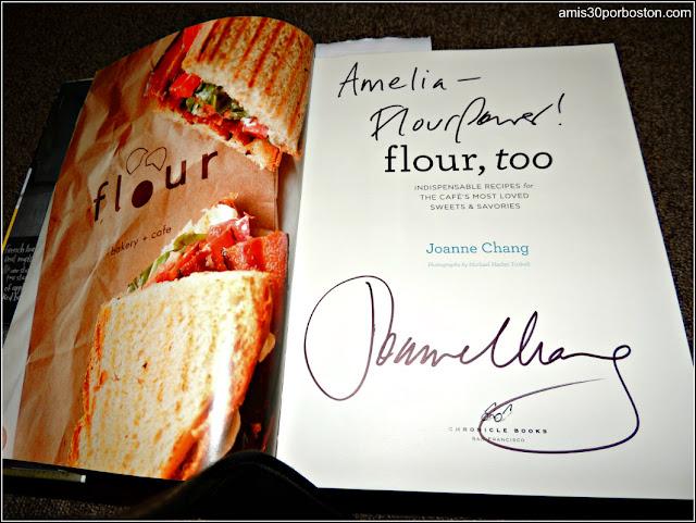 Libro Flour Firmado por Joanne Chang en la Universidad de Harvard