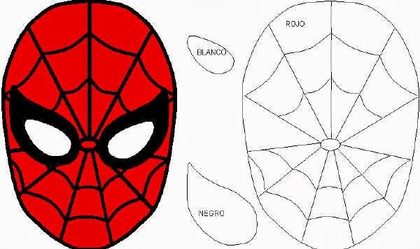 Máscara Do Homem Aranha Para Imprimir