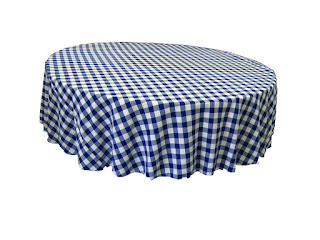 LA Linen gingham tablecloth