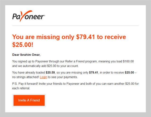 Payoneer Referral 25$, Payoneer, Payoneer MasterCard, PayPal and Payoneer, بايونير ماستركارد, ربط بايونير بالباى بال