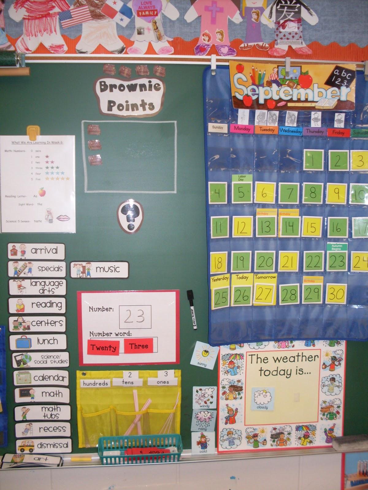Kindergarten Days Math Time Calendar