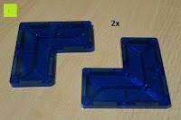 dreiviertel: Playbees 100 Teile Magnetische Bausteine Set für 2D und 3D Form Konstruktionen, Regenbogenfarben Magnetspielzeug, Baukasten Magnetspiel, Magnetbausteine