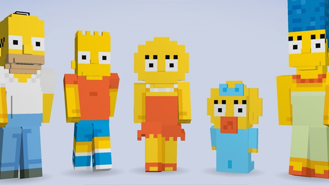 The Simpsons Intro und  interaktive Stadttour in Minecraft - Atomlabor Blog