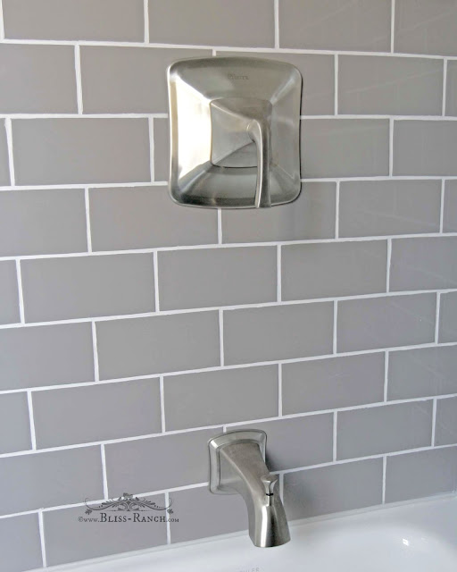 South Cypress Gray Subway Tile Pfister Faucet, Bliss Ranch.com