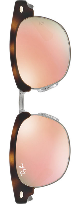 RAY-BAN Junior Mirrored Clubamster Sunglasses