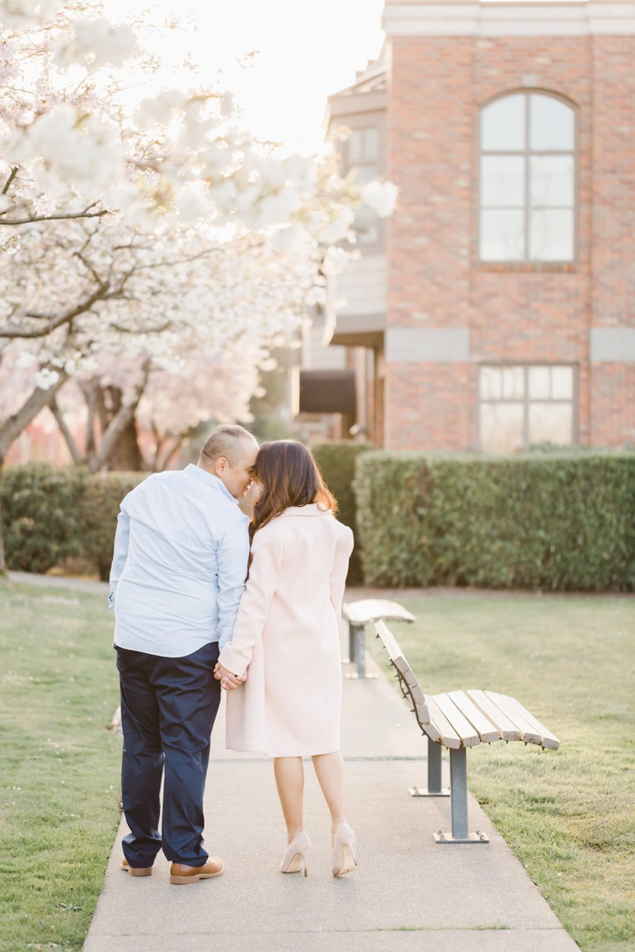 Cherry Blossom Engagement Session | Photography Tips | Something Minted