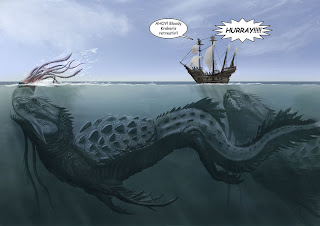 funny joke image - the sea monster diet