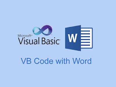 Visual Basic Code with Microsoft Word