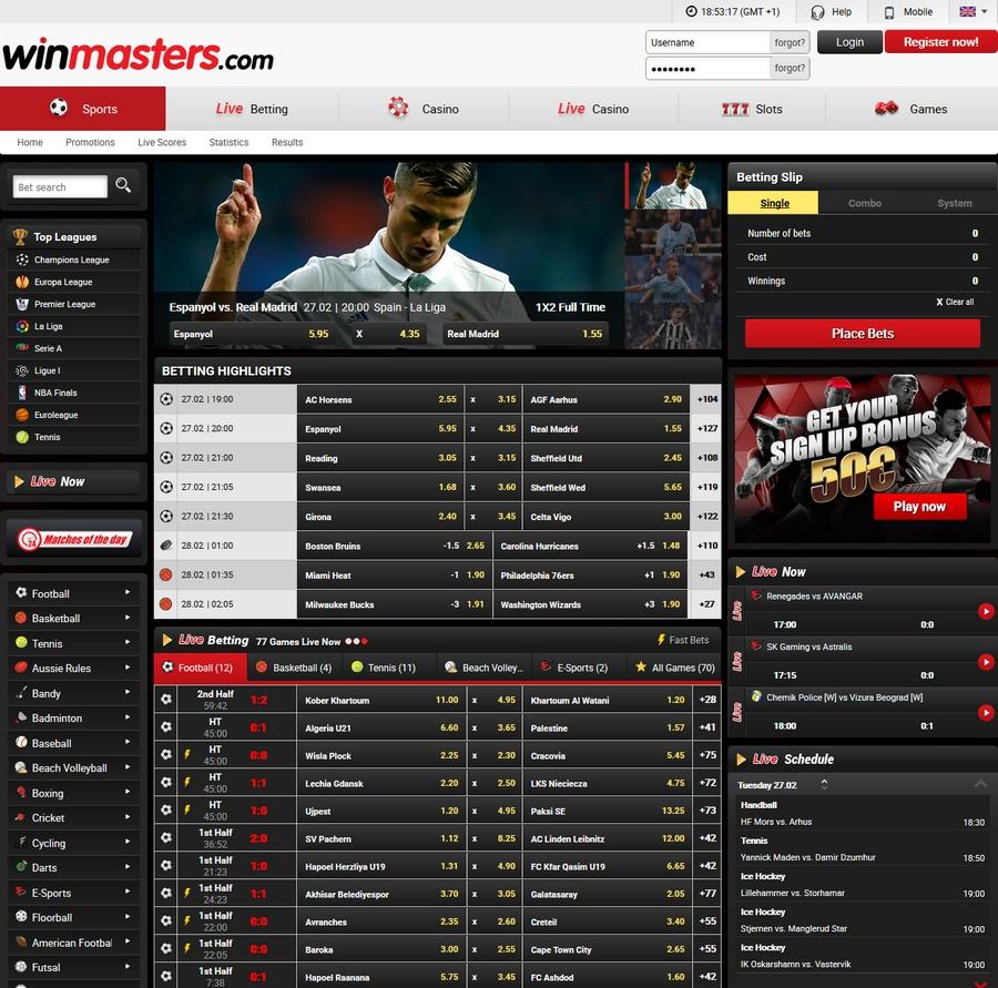 Winmasters Sportsbook