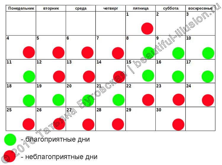 Лунный календарь посещения парикмахера на июнь