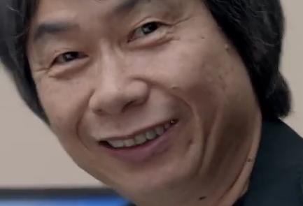 Shigeru Miyamoto scary evil grin face