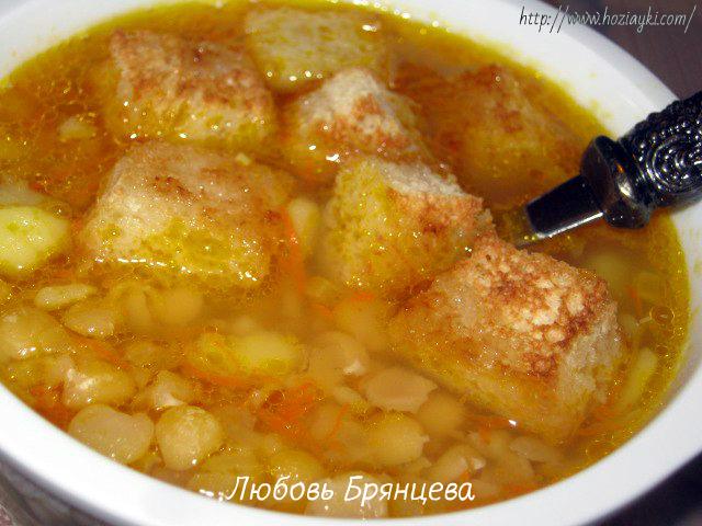 постный суп с горохом