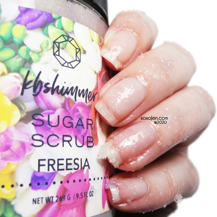 xoxoJen's swatch of kbshimmer Freesia Sugar Scrub