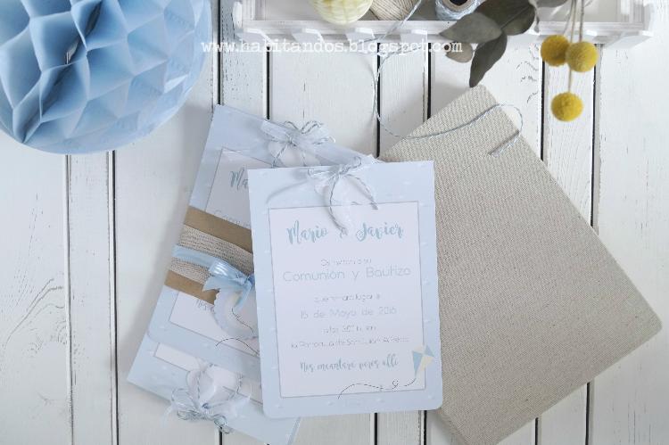 Detalles y papelería handmade personalizada para eventos /Comunión y bautizo 2 en 1/Decoración handmade para hogar y eventos by Habitan2