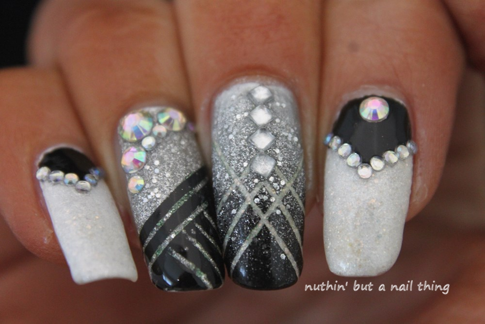 Nuthin but a nail thing great gatsby and glitter great gatsby 1920s inspired nail art great gatsby 1920s inspired nail art prinsesfo Choice Image