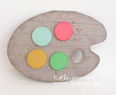 Kathryn Mangelsdorf Stampin' Up! Onstage Painter's Palette Card