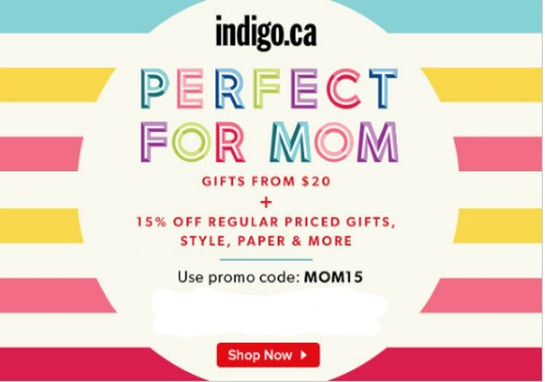 Chapters Indigo 15% Off Perfect For Mom Gifts From $20 Promo Code