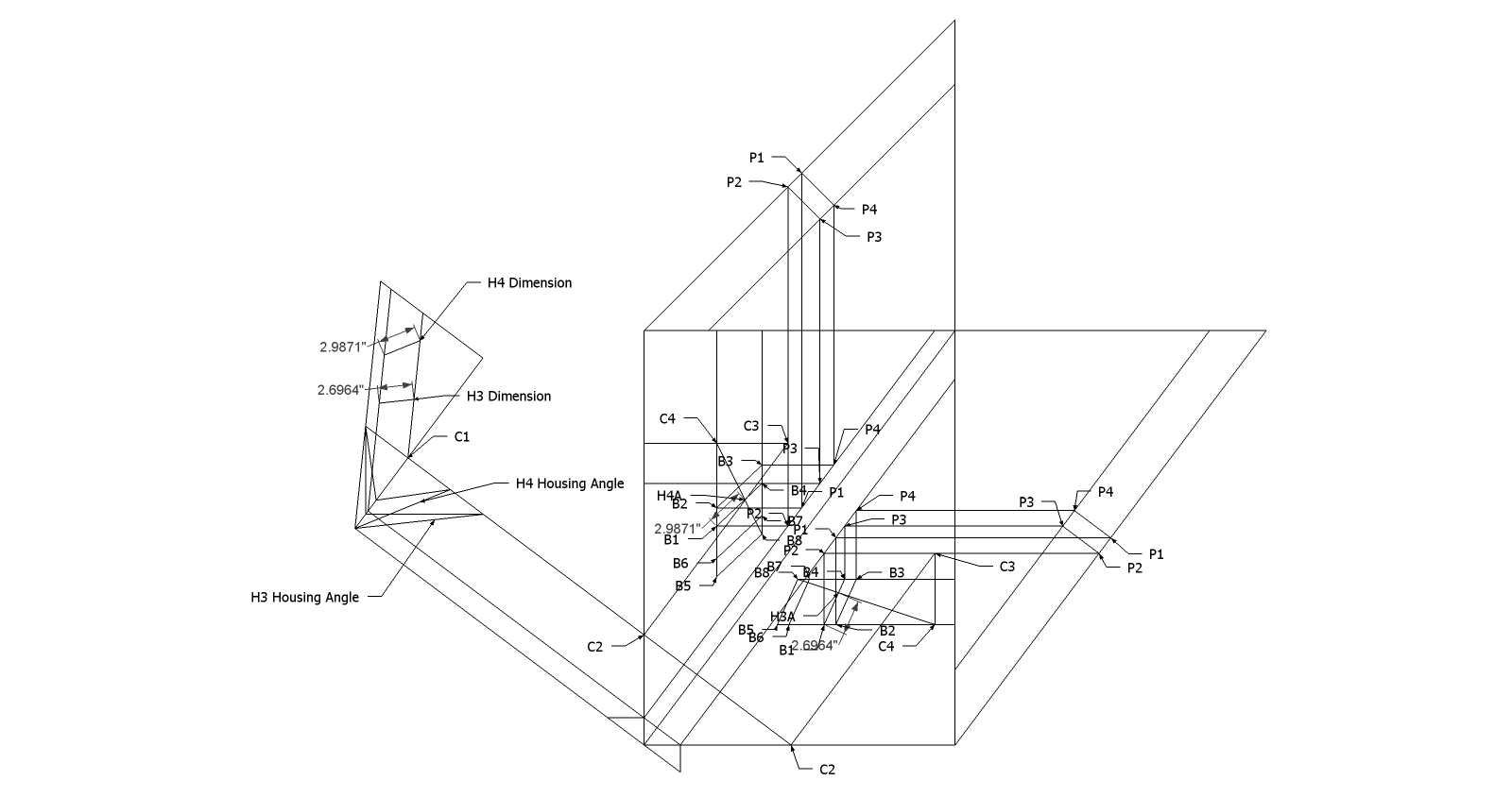hight resolution of roof framing geometry