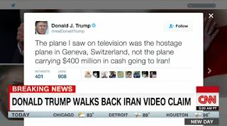 Trump backs off false Iran video claim