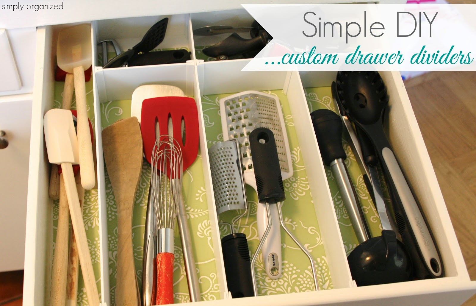 simply organized: DIY: Custom Drawer Dividers
