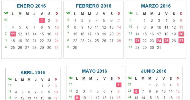 Almanaque bristol calendar colombia for Almanaque bristol 2016