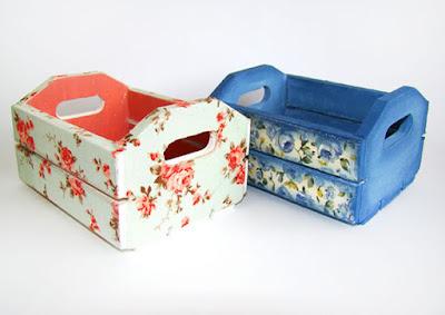 caixa de uva reciclado