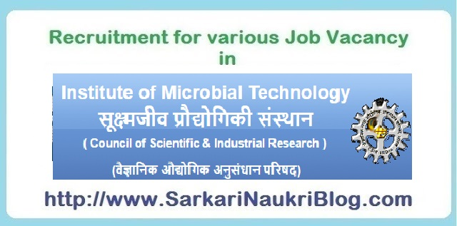Naukri Vacancy Recruitment IMTECH Chandigarh