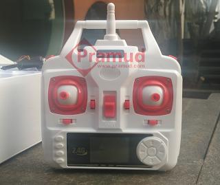 penampakan remote kontrol drone syma X5HW - pramud