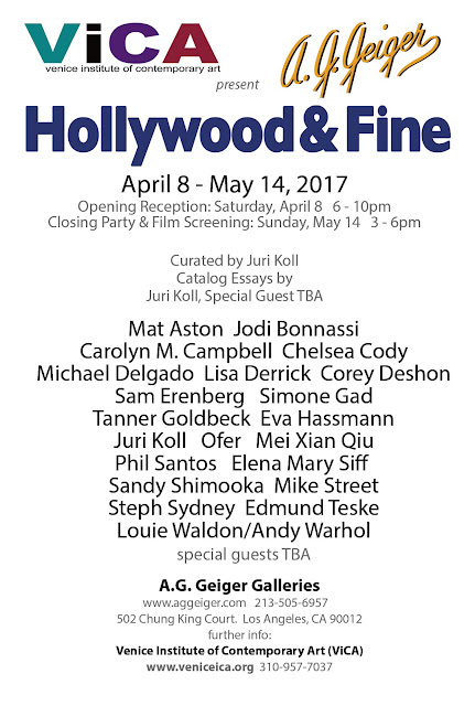 Hollywood and Fine ...opening April 8, 2017