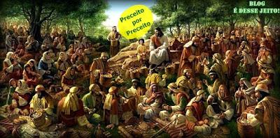 """Imagem do nosso SENHOR e SALVADOR, JESUS declarando o """"Sermão da Montanha"""""""