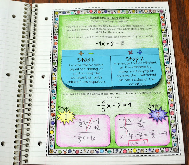 Algebra Interactive Notebook