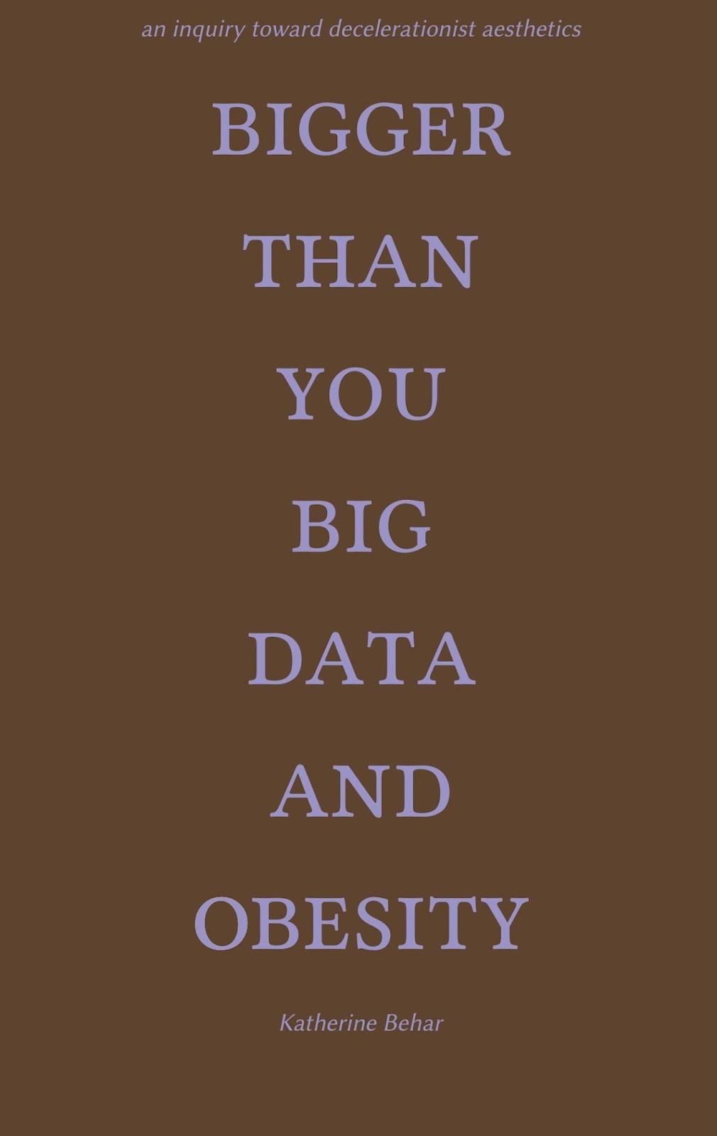 Bigger Than You Big Data And Obesity