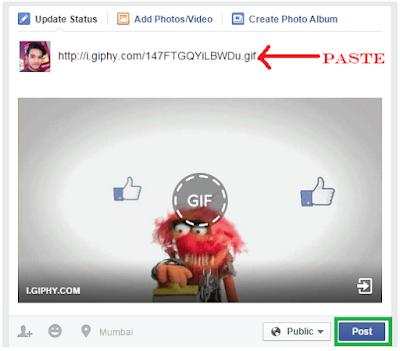 How Do You Post A Gif to Facebook