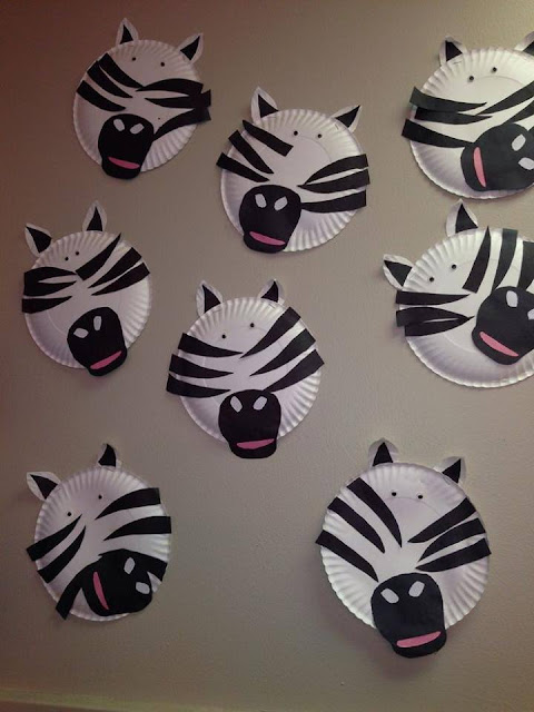 Idea to make zebra from paperplate for kids