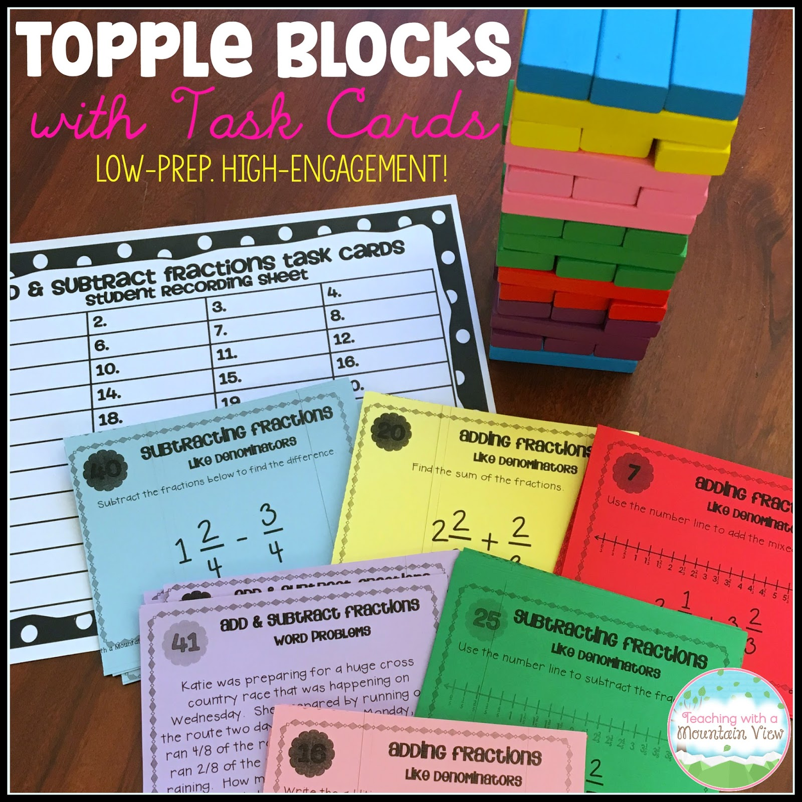 Teaching With A Mountain View: Using Topple Blocks With
