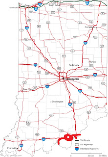 Indiana map road pdf