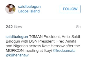 Kate Henshaw, Stephanie Okereke, Saidi Balogun & Fred Amata In Ikoyi For MOPICON Meeting