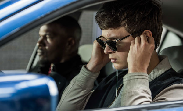 Music is a must for Baby (Ansel Elgort) in BABY DRIVER (2017)