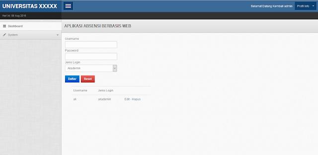 Aplikasi Kampus Berbasis Web PHP