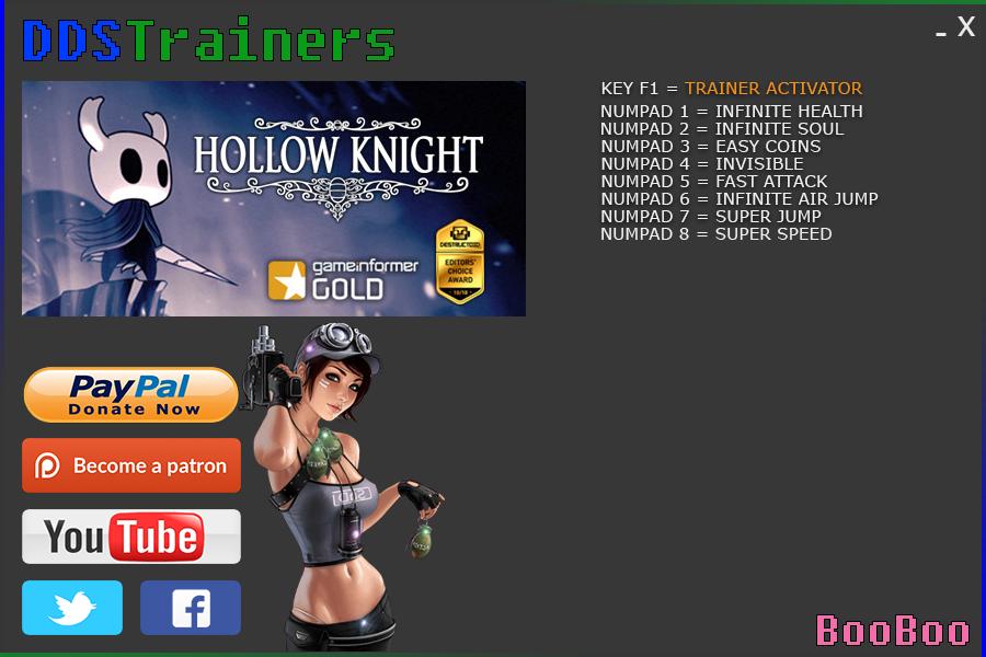 скачать трейнер для Hollow Knight - фото 6