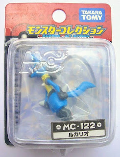 Lucario figure in Takara Tomy Monster Collection MC series