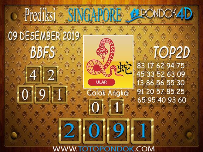Prediksi Togel SINGAPORE PONDOK4D 09 DESEMBER 2019