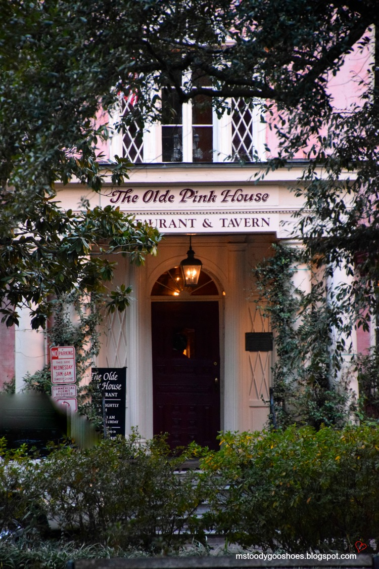 The Old Pink House In Savannah, GA - a great restaurant! | Ms. Toody Goo Shoes