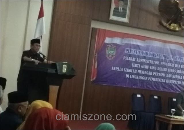 Diujung Tahun 2018, Bupati Mutasikan 230 Pejabat di Pemkab Ciamis